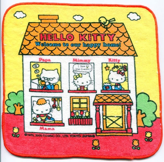 Image 0 of Sanrio Hello Kitty Face Towel Wash Cloth #36 (T0652)