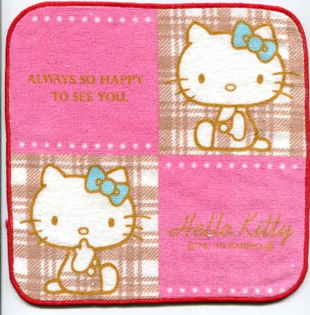Image 0 of Sanrio Hello Kitty Face Towel Wash Cloth #38 (T0654)