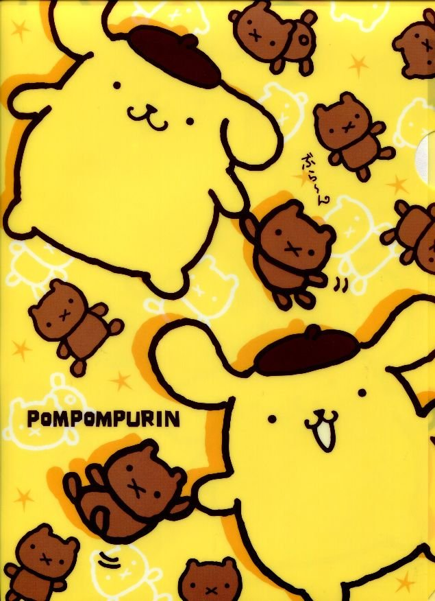 Image 0 of Sanrio Purin A4 Plastic File Folder #3