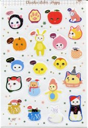 Thumbnail of Korea Jetoy Choo Choo Cat Paper Sticker Sheet #4 (I0746)