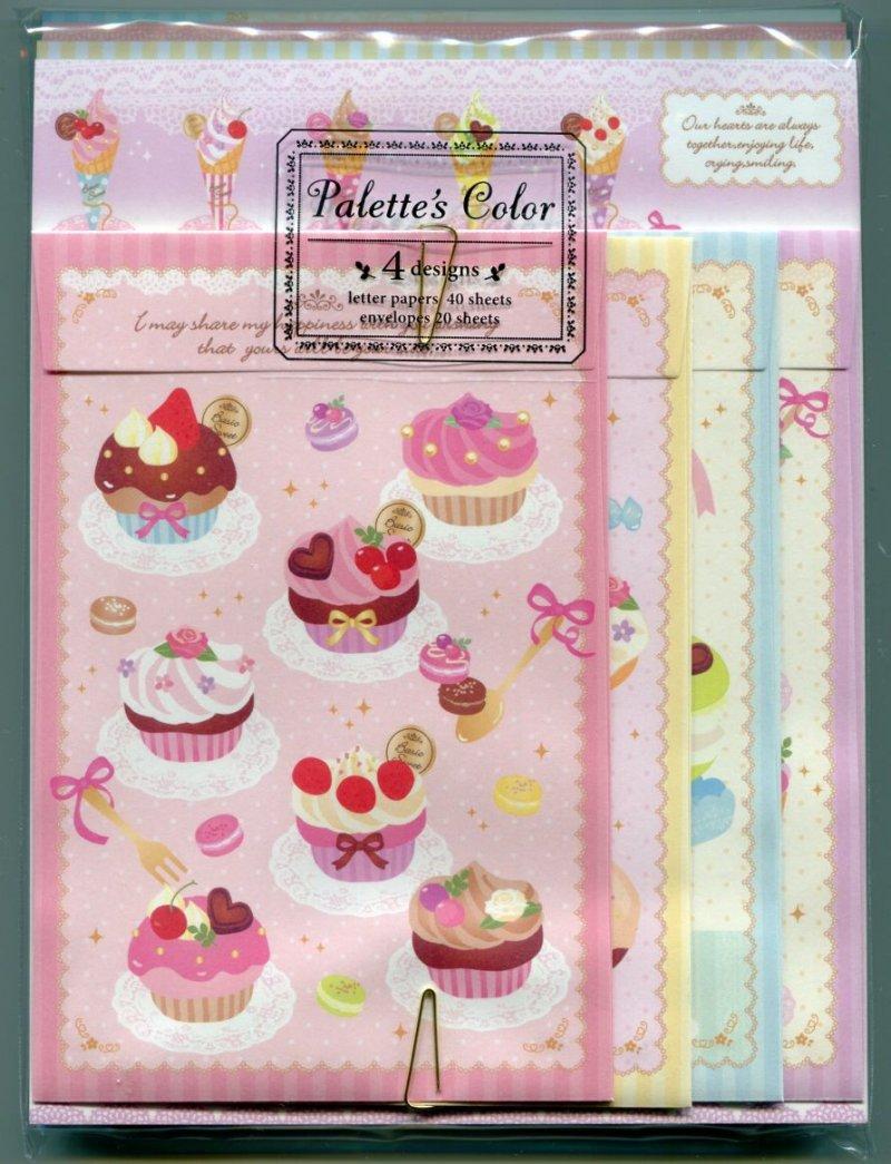 Image 0 of San-X Palette's Color 4 Design Letter Set #1 (Dessert Sweet) (L0634)