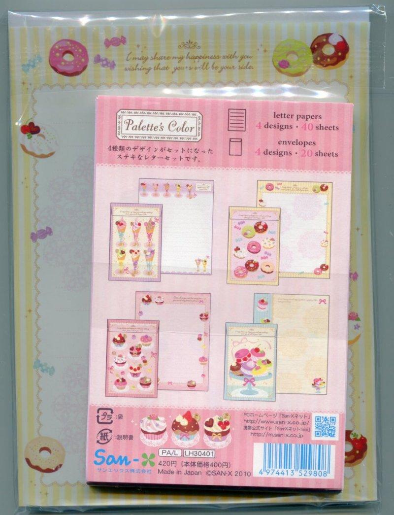 Image 1 of San-X Palette's Color 4 Design Letter Set #1 (Dessert Sweet) (L0634)