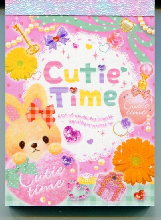 Image 0 of Q-Lia Cutie Time Rabbit 2 Design Mini Memo Pad #1 (M0787)