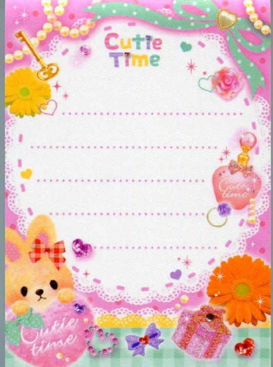 Image 1 of Q-Lia Cutie Time Rabbit 2 Design Mini Memo Pad #1 (M0787)
