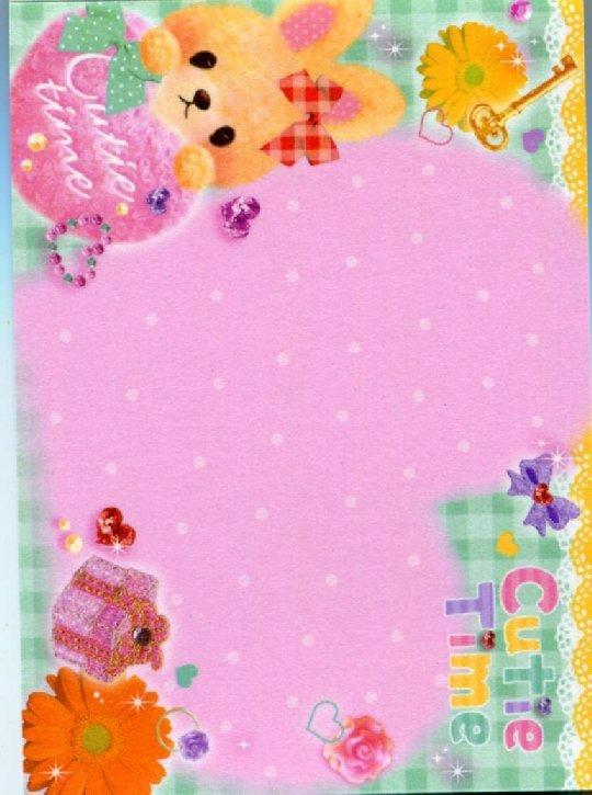 Image 2 of Q-Lia Cutie Time Rabbit 2 Design Mini Memo Pad #1 (M0787)