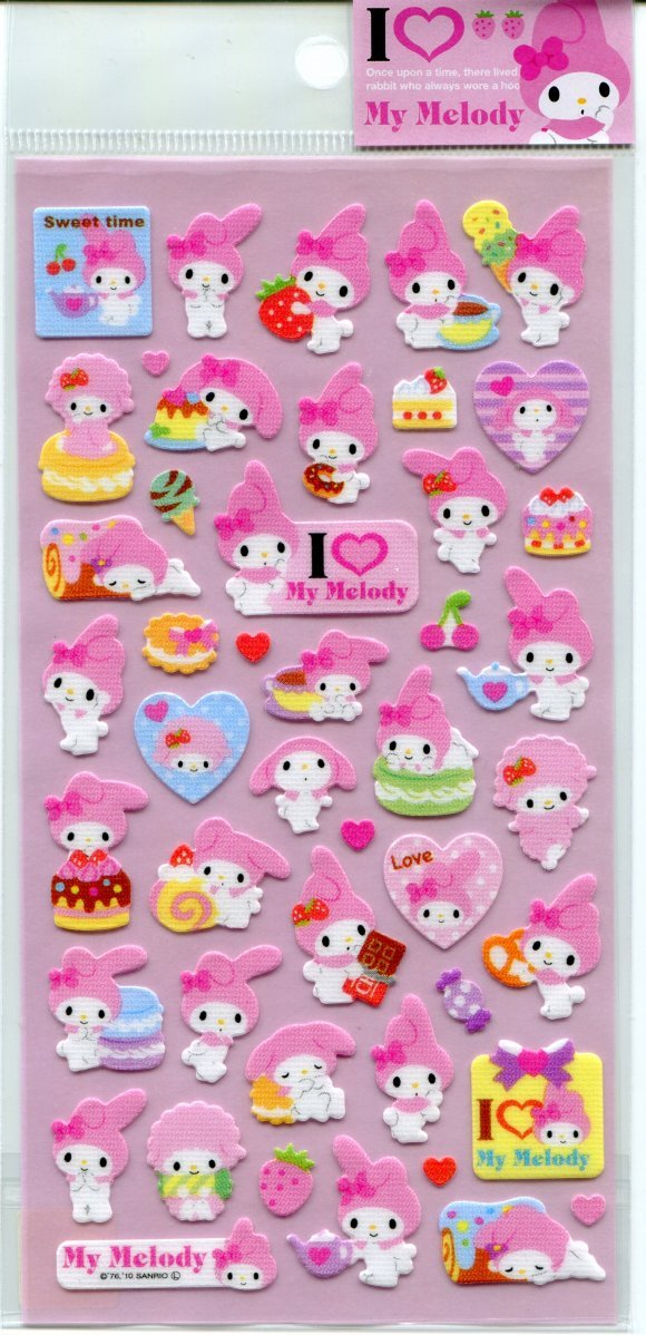Image 0 of Sanrio My Melody Shiny Sticker Sheet #2 (I0788)