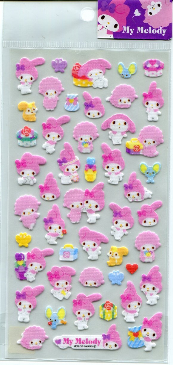 Image 0 of Sanrio My Melody Shiny Sticker Sheet #3 (I0789)
