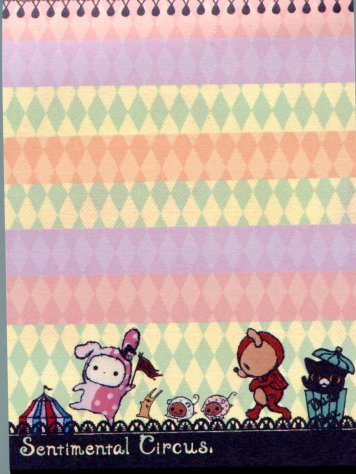 Image 1 of San-X Sentimental Circus 2 Design Mini Memo Pad #2 (M0834)