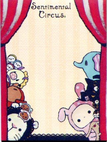Image 2 of San-X Sentimental Circus 2 Design Mini Memo Pad #2 (M0834)