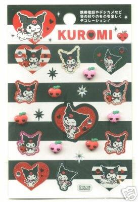 Image 0 of Sanrio Kuromi Glam Sticker Sheet #1 (I0513)