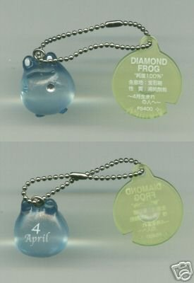 Image 0 of Japan Frog Style Birth Stone Collection Keychain #4 (K0616)