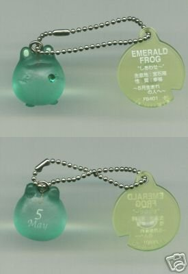 Image 0 of Japan Frog Style Birth Stone Collection Keychain #5 (K0617)