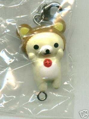 Thumbnail of San-X Rilakkuma Relax Bear Plastic Keychain #6 (K0090)