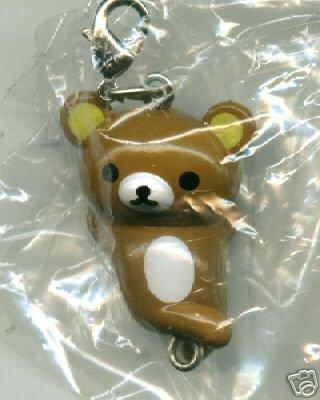 Thumbnail of San-X Rilakkuma Relax Bear Plastic Keychain #2 (K0087)