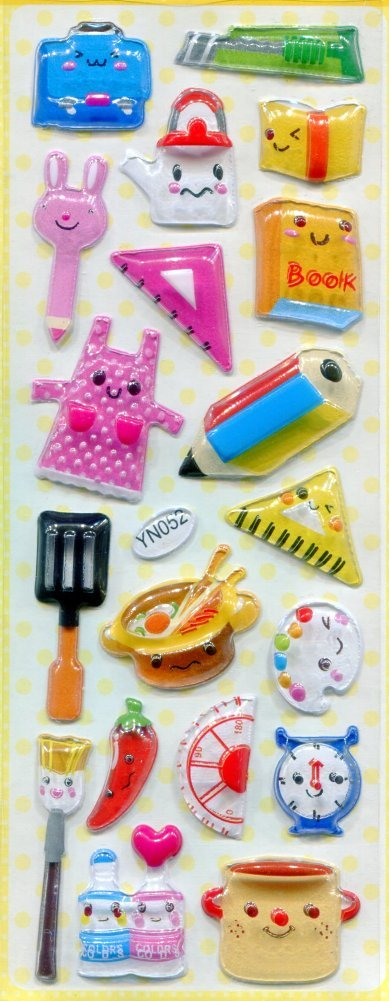 Image 0 of Kitchen Utensil Capsule Sticker Sheet #1 (I0826)