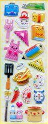 Thumbnail of Kitchen Utensil Capsule Sticker Sheet #1 (I0826)