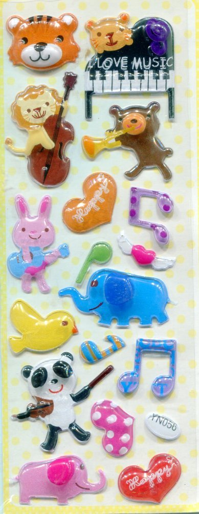 Image 0 of Animal Music Capsule Sticker Sheet #1 (I0829)