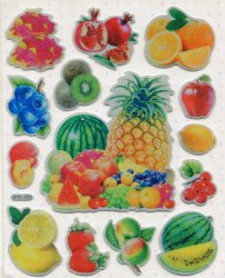Thumbnail of Fruit Large Sponge Sticker Sheet #1 (I0847)