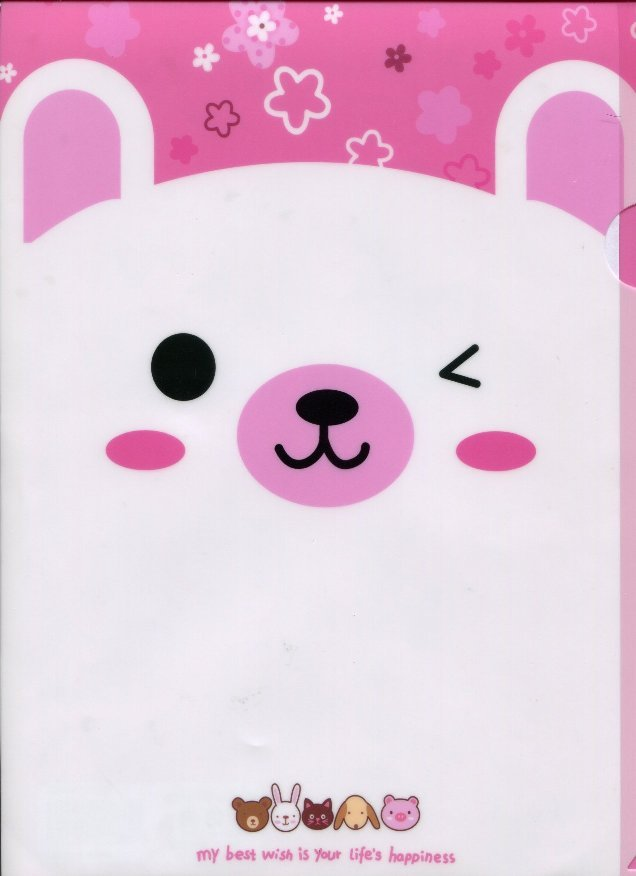 Image 0 of Animal Happiness A4 Plastic File Folder #3 (Rabbit)