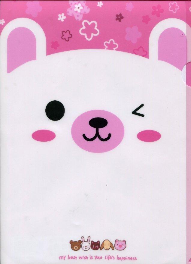 Image 0 of Animal Happiness A4 Plastic File Folder #3 (Rabbit)