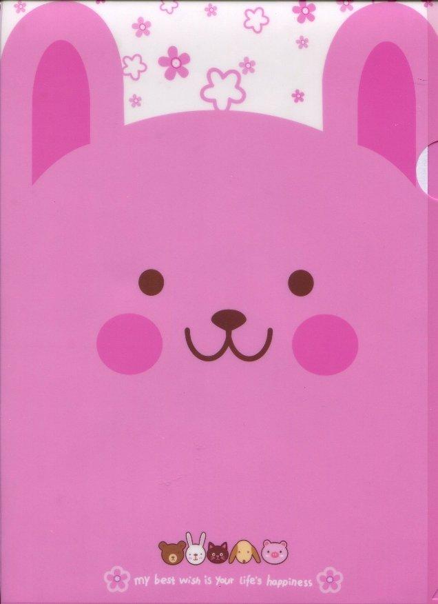 Image 0 of Animal Happiness A4 Plastic File Folder #4 (Rabbit)