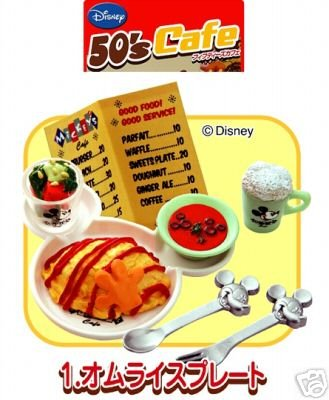 Image 0 of Re-ment Doll House Disney 50's Cafe Miniature #1
