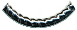 Thumbnail of TurkTUBE07 4x38mm Sterling silver decorated noodle - Made in Turkey
