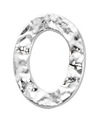 Thumbnail of SSCLRing20x14 Sterling silver closed hammered ring - made in Italy