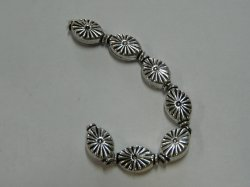Thumbnail of GBead04 - Glinter™-Silver Substitute ellipitical bead w/sunburst