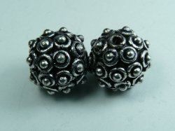 Thumbnail of GBead06 - Glinter™-Silver Substitute round bead w/bumps