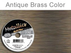 Thumbnail of SoftFlex.014/30AntBrass - SoftFlex .014 antique brass wire, 21 strands - 30 feet