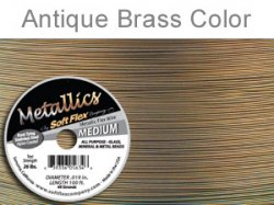 Thumbnail of SoftFlex.019/30AntBrass - SoftFlex .019 antique brass wire, 49 strands - 30 feet