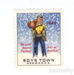 Boys Town 22.2A, 1949 Boys Town Charity Seal, Type 1