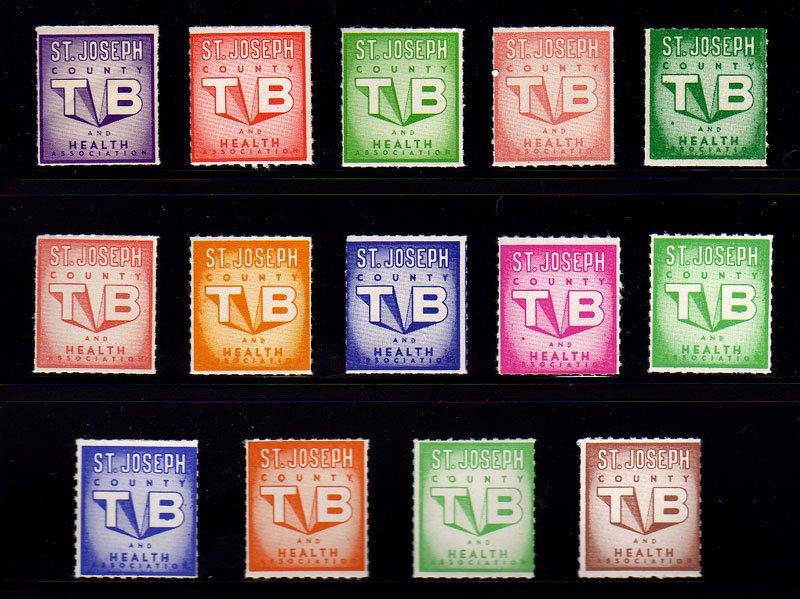 1954-74 Saint Joseph County TB & Health Association, TB Charity Seal Collection