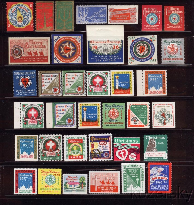 1963-66 Grace Lutheran Sanatorium TB Charity Seal Collection