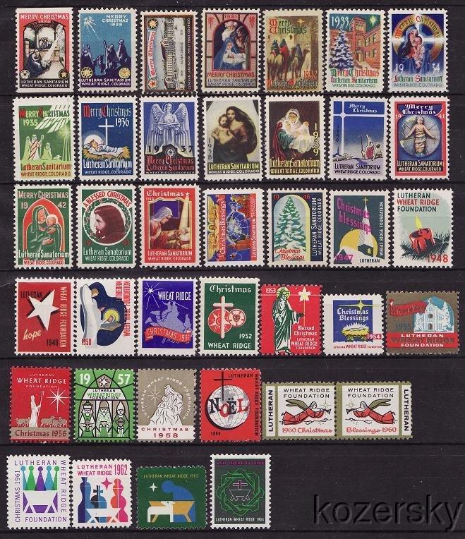1928-64 Wheatridge Lutheran Sanitarium TB Charity Seal Collection