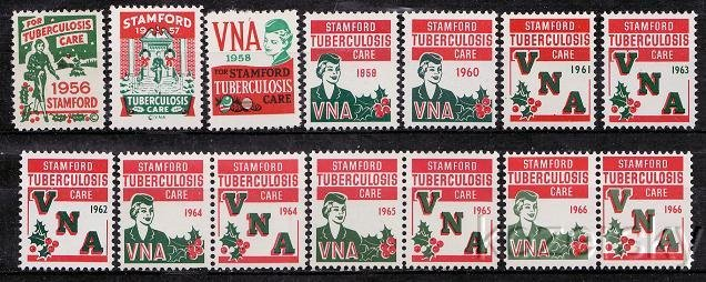 1956-66 Visiting Nurse Association TB Charity Seal Collection