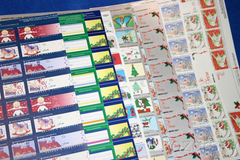 1999 U.S. National Christmas Seal Sheet