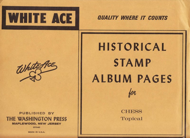 Chess on Stamps, White Ace Topical Stamp Album Pages