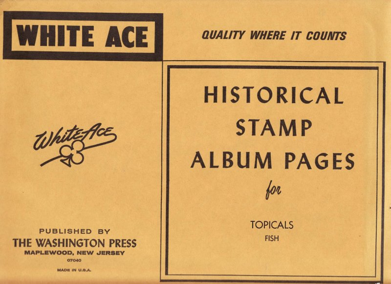 Fish on Stamps, White Ace Topical Stamp Album Pages