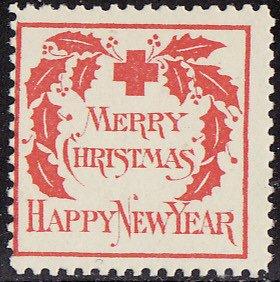 1907-2, WX2, 1907 U.S. Red Cross Christmas Seal, Type 2, Average