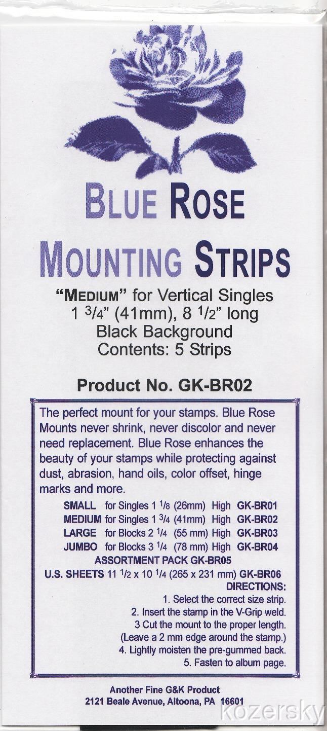 Blue Rose Stamp Mounts, Medium Size