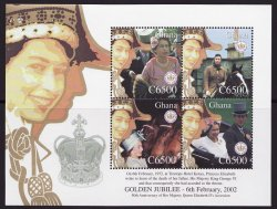 Thumbnail of Ghana 2289, Queen Elizabeth II, Golden Jubilee, Sheet/4, MNH