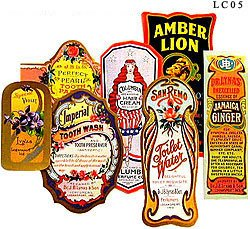 Cosmetic Label Collection, 18 diff., Mint!