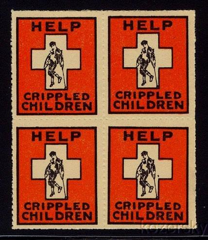 9A-1.00, 1934 U.S. Easter Charity Seal Block