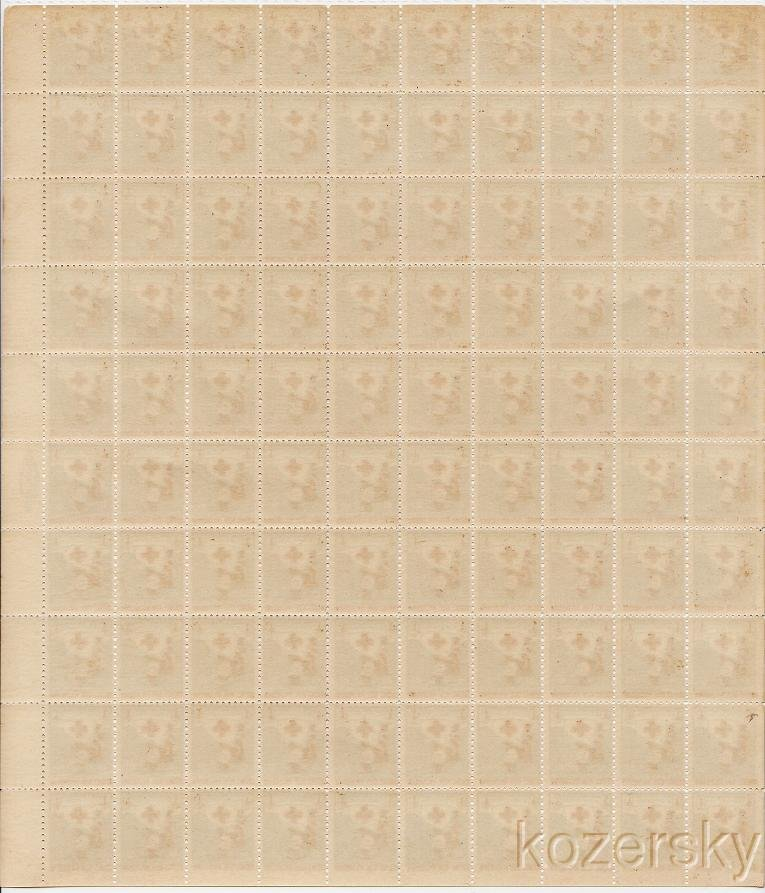1919-1x,  WX24, 1919 U.S. Red Cross Christmas Seals Sheet, Type 1