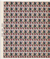 Thumbnail of 1920-1.2x1, WX26, 1920 U.S. Christmas TB Seals, Type 1, Sheet/100, NG