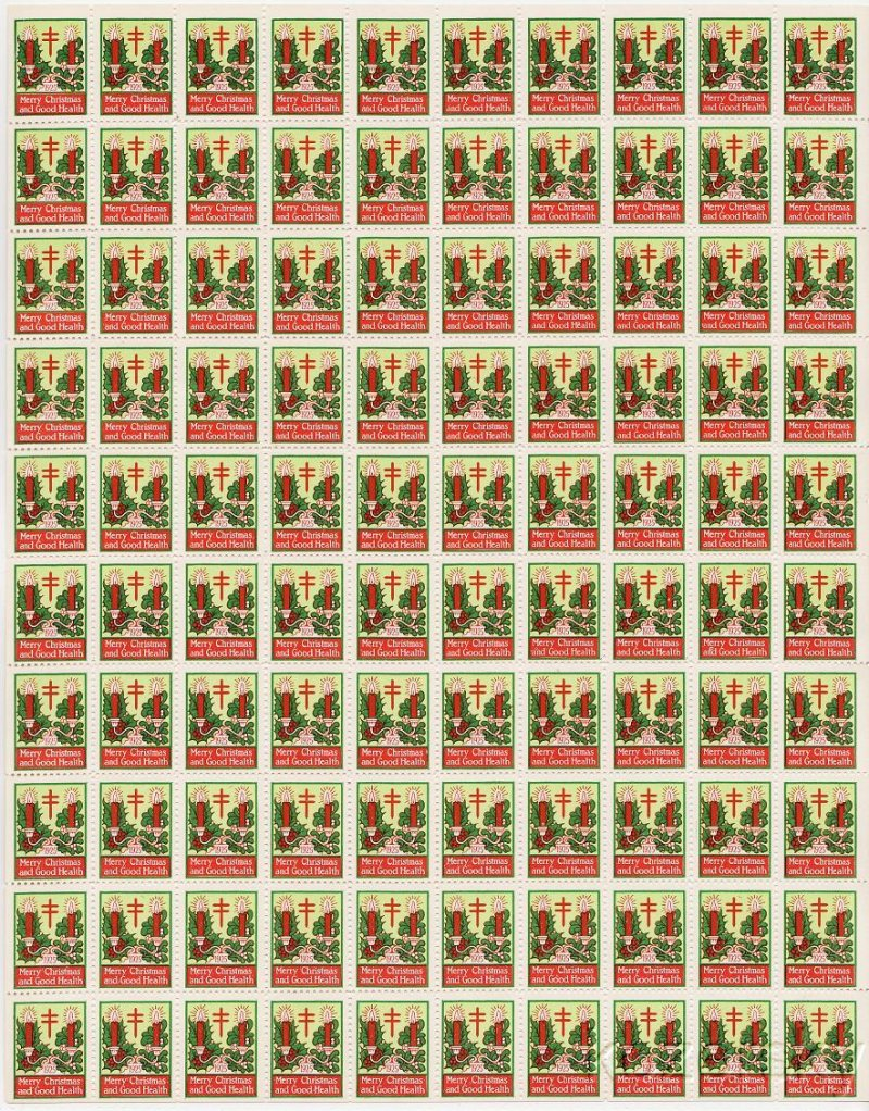 1925-1.3x, WX35, 1925 U.S. Christmas Seals Sheet, Type 1