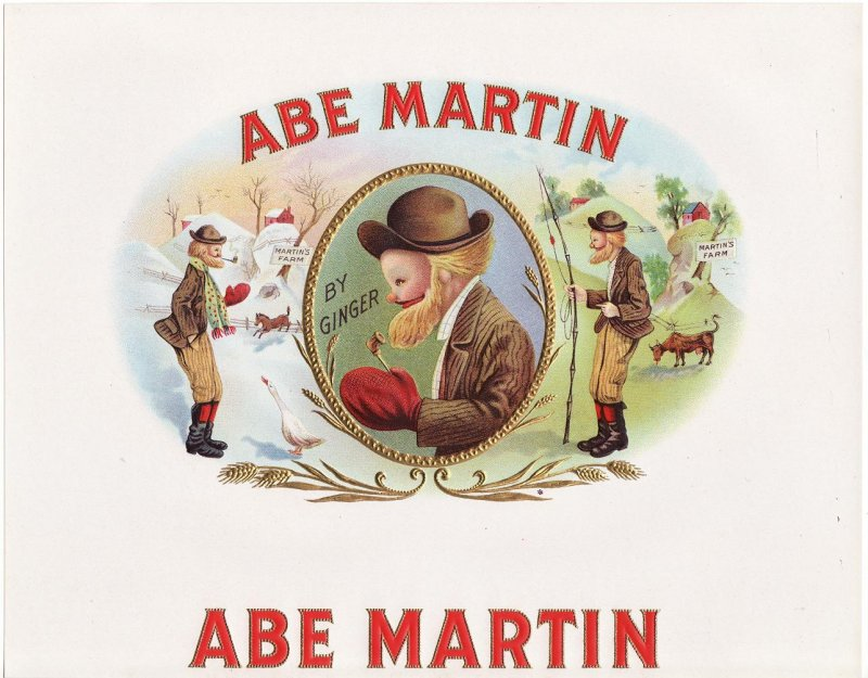 Abe Martin Inner Cigar Box Label, 1920s
