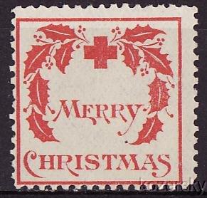 1907-1, WX1, 1907 U.S. Red Cross Christmas Seal, Type 1, Avg.